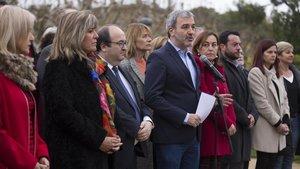 Jaume Collboni, Miquel Iceta y otros cargos del PSC que han pedido un cordón sanitario contra Vox.