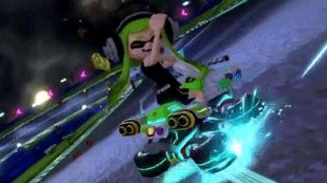 El corte de mangas que hacía la niña Inkling como celebración en el juego Mario Kart 8 Deluxe, y que ha sido retirado