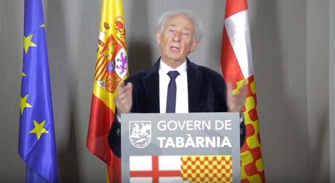 Discurs del president a l'exili de Tabàrnia.
