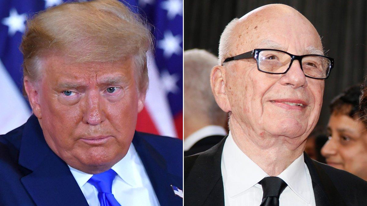 Donald Trump y Rupert Murdoch.
