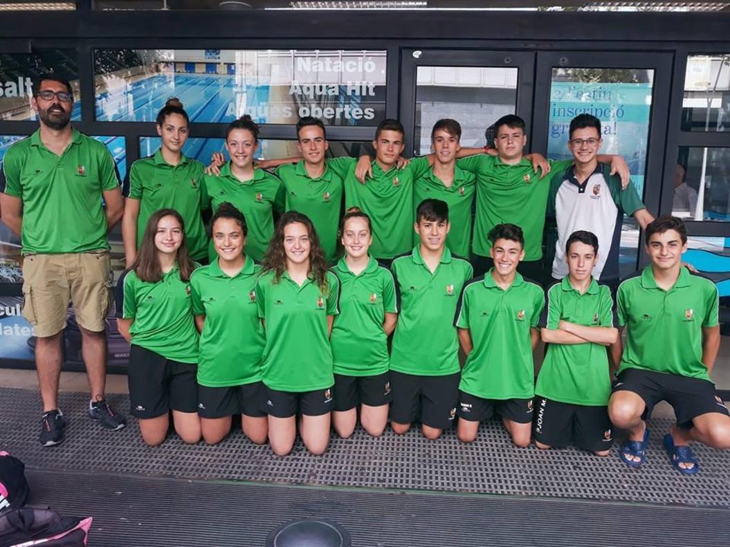 El equipo infantil del CN Cornellà en el Campeonato de Catalunya Infantil de Verano disputado en Barcelona