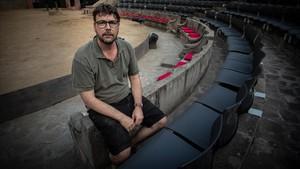 Oriol Broggi, en el Teatre Grec, este viernes.