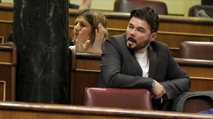 Gabriel Rufián, en el pleno del Congreso.