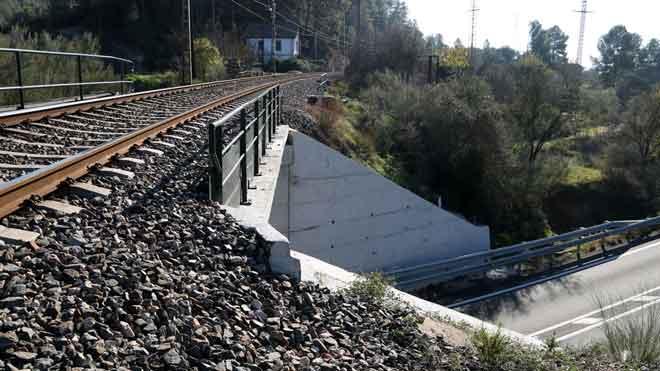 Un home mor al caure per un pont i ser atropellat per un tren