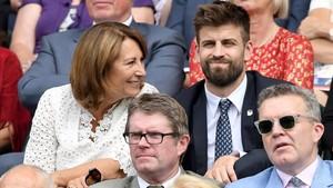Gerard Piqué, en el royal box de Wimbledon el pasado mes de julio.