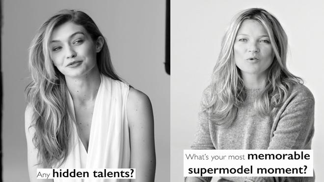 Gigi Hadid y Kate Moss posan juntas por primera vez para la colección primaveral de Stuart Weitzman.