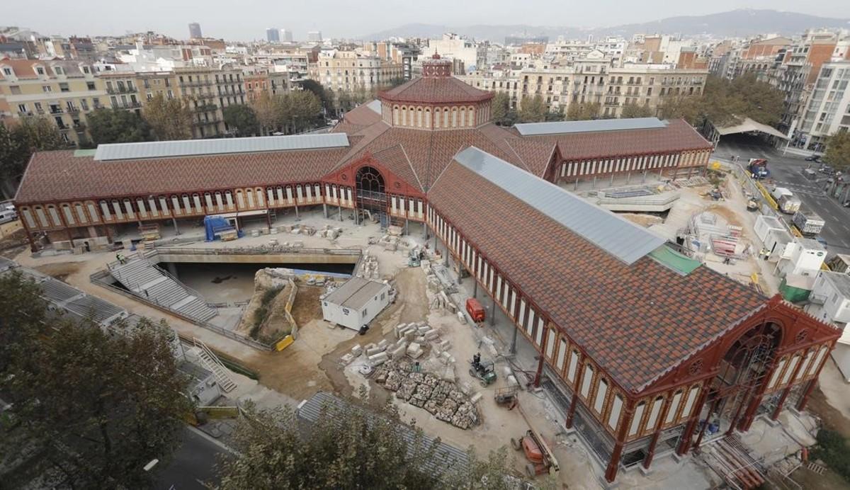 El marcado de Sant Antoni, en obras, esta semana.