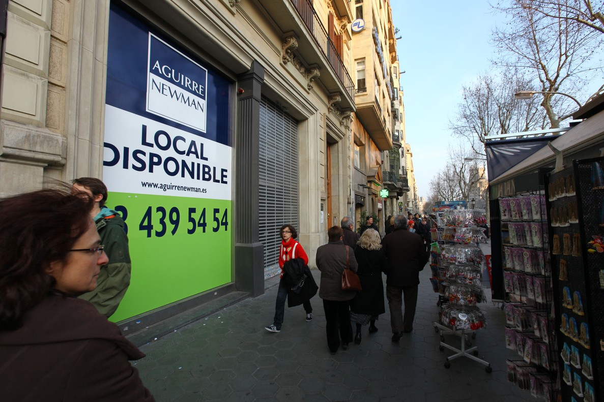Un local comercializado por Aguirre Newman en Barcelona.