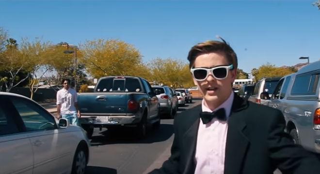 Jacob Staudenmeier, un fan de Emma Stone, recrea La La Land.