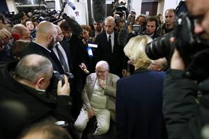 Jean-Marie Le Pen en una rueda de prensa el mes pasado.
