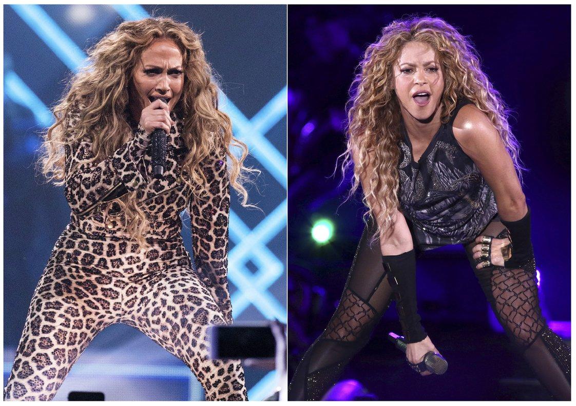 Jennifer Lopez y Shakira actuarán durante el descanso de la próxima Super Bowl.