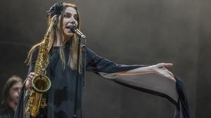 PJ Harvey, en el concierto que ofreció en el Primavera Sound la noche del sábado.