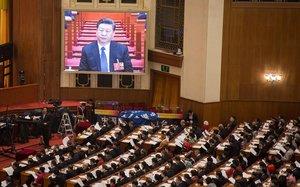 Xi Jinping, durante su discurso a la Asamblea Nacional del 2018.