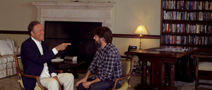 Julio Iglesias conversa amb Jordi Évole en la preestrena de 'Salvados'.