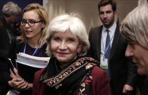 Laurence Tubiana, embajadora francesa en la Cumbre del Clima (COP 21) que se celebra estos días en París