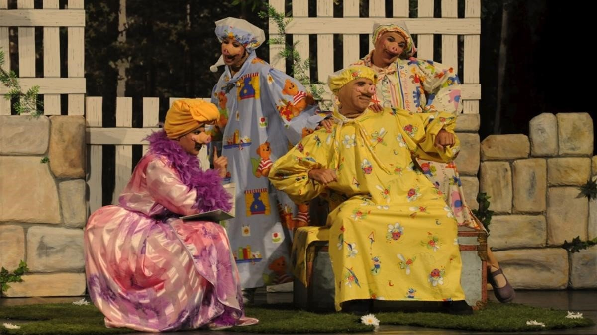 'Els tres porquets' en el Jove Teatre Regina.