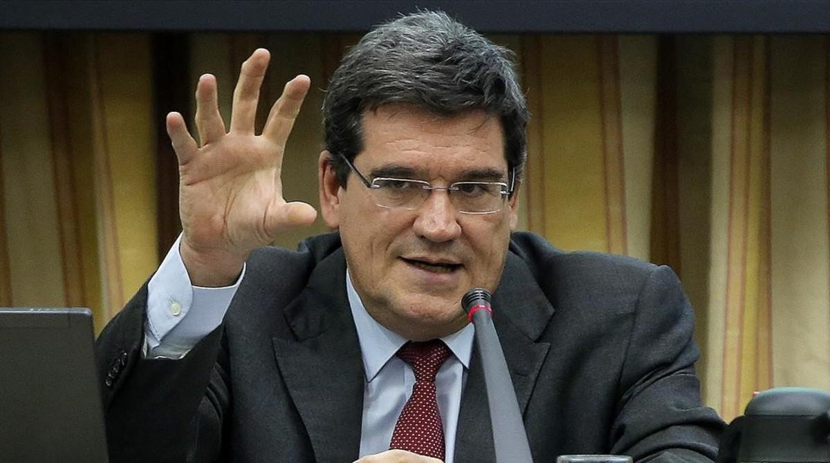 José Luis Escrivá, presidente de a Autoridad Fiscal Independiente (Airef), en el Congreso de los Diputados, en una imagen de archivo.