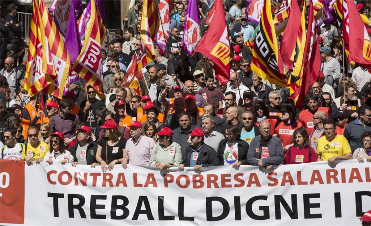 Manifestación del Primero de mayo en Barcelona.