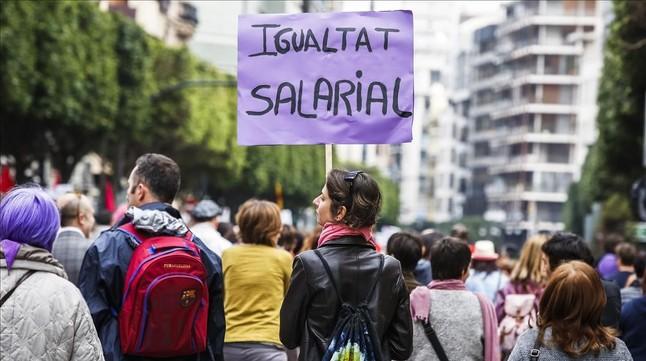 Manifestación por la igualdad en Valencia, el 8 de marzo del 2015.