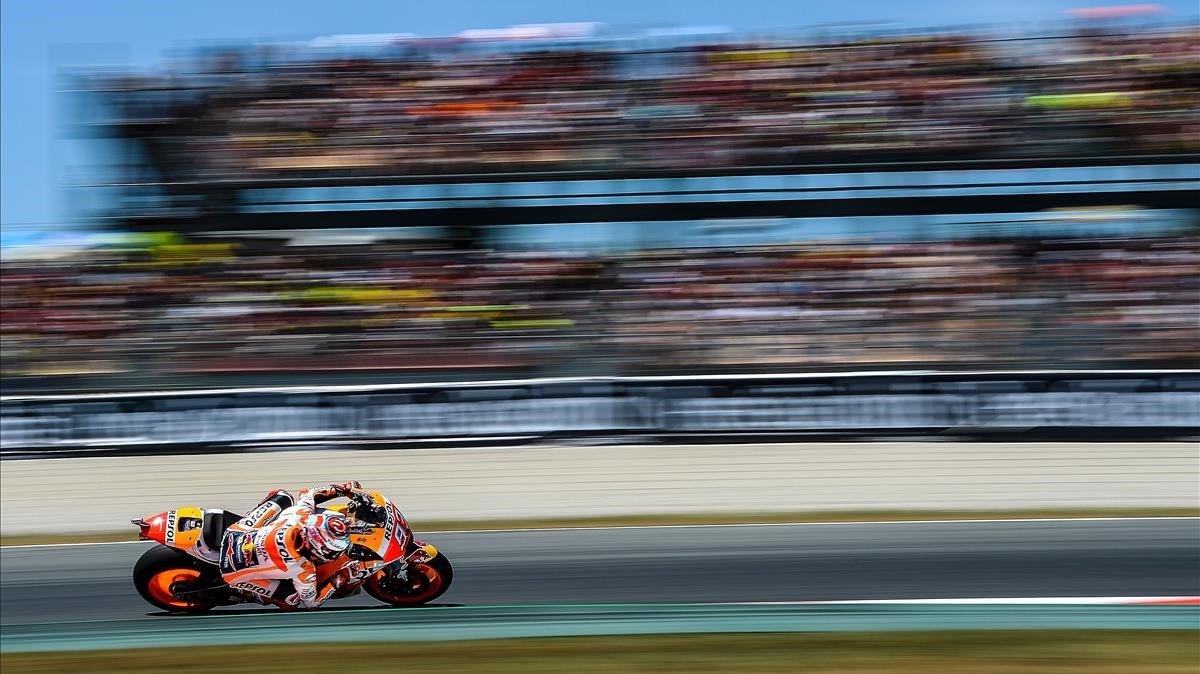Marc Márquez (Honda) y todos sus compañeros de parrilla han visto suspendido, hoy, el GP de Jerez.