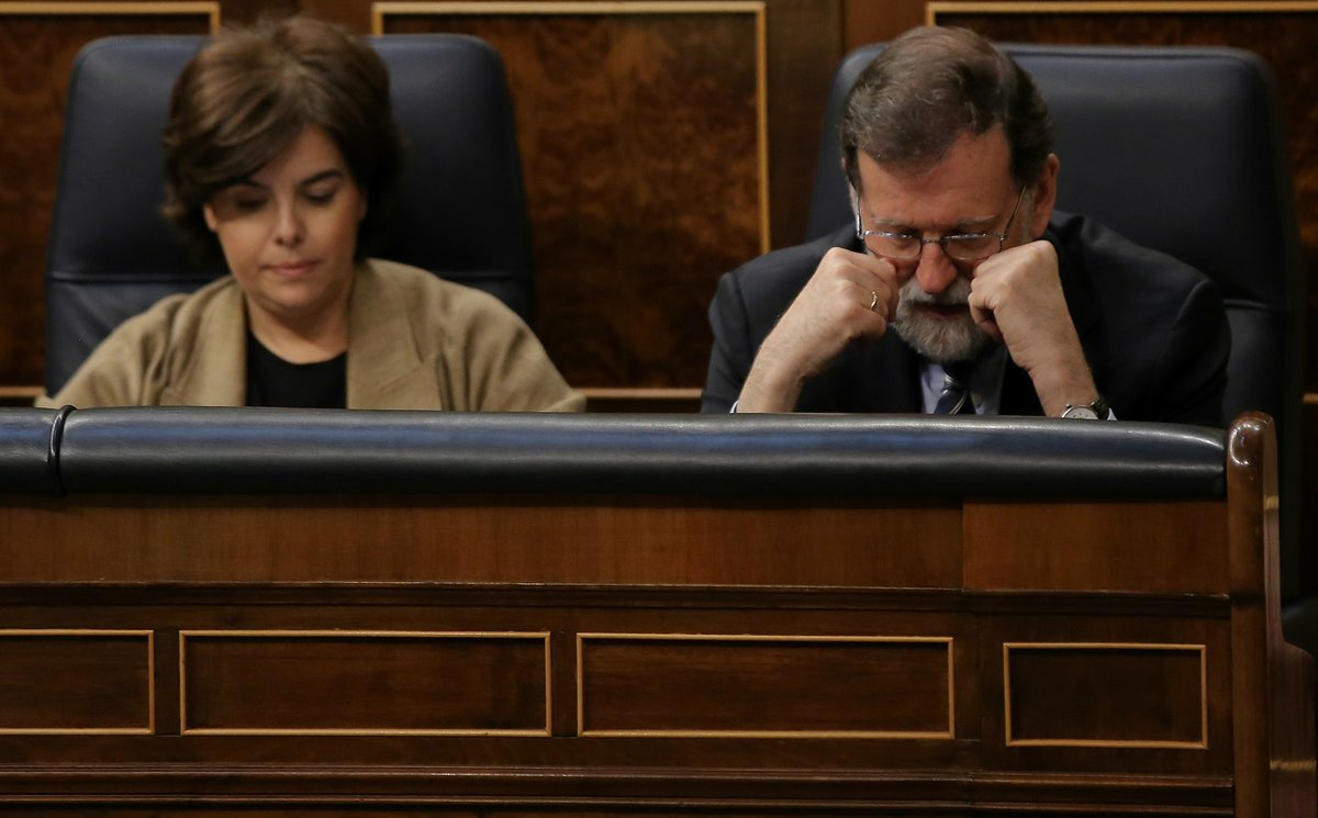 Mariano Rajoy y Soraya Sáenz de Santamaría, en el Congreso, en una imagen de archivo.