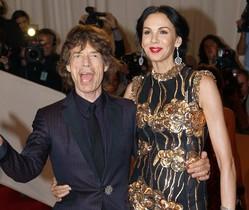 Mick Jagger y LWren Scott, en mayo del 2001, en Nueva York.