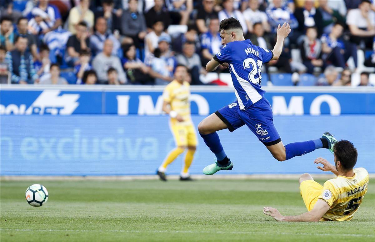 Munir, durante el partido contra el Girona del pasado día 19.