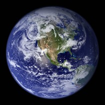 This spectacular blue marble image is the most detailed true-color image of the entire Earth to date, using a collection of satellite-based observations, scientists and visualizers stitched together months of observations of the land surface, oceans, sea ice, and clouds into a seamless, true-color mosaic of every square kilometer of Earth. Much of the information contained in this image came from a single remote-sensing device-NASA's Moderate Resolution Imaging Spectroradiometer, or MODIS. REUTERS/NASA Goddard Space Flight Center/Handout (UNITED STATES) FOR EDITORIAL USE ONLY