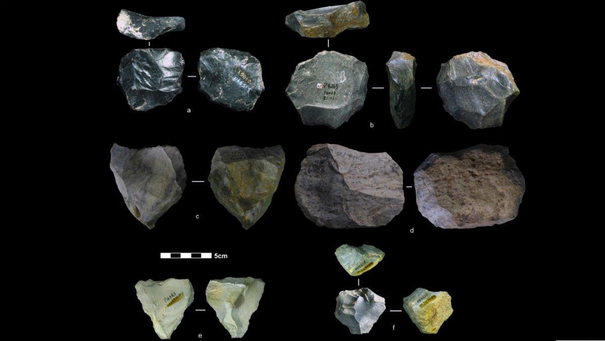 Herramientas talladas en piedra hace entre 80.000 y 170.000 años.