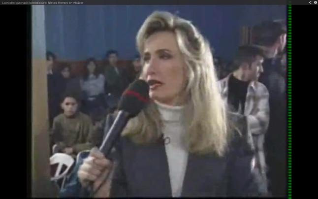 Nieves Herrero, en el programa de Antena 3 'De tú a tú', que explotó el crimen de Alcàsser, en 1993.