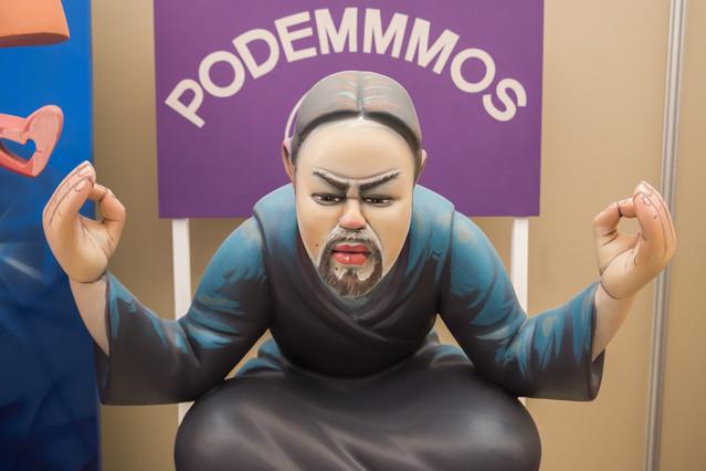 El líder de Podemos, Pablo Iglesias, en actitud zen.