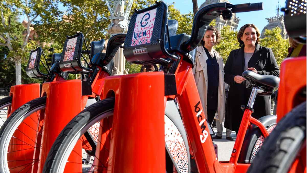 Nuevo Bicing (eléctrico) de Barcelona.