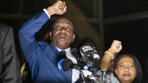 El exvicepresidente Mnangagwa asume el liderazgo del país tras cuatro décadas de Mugabe.