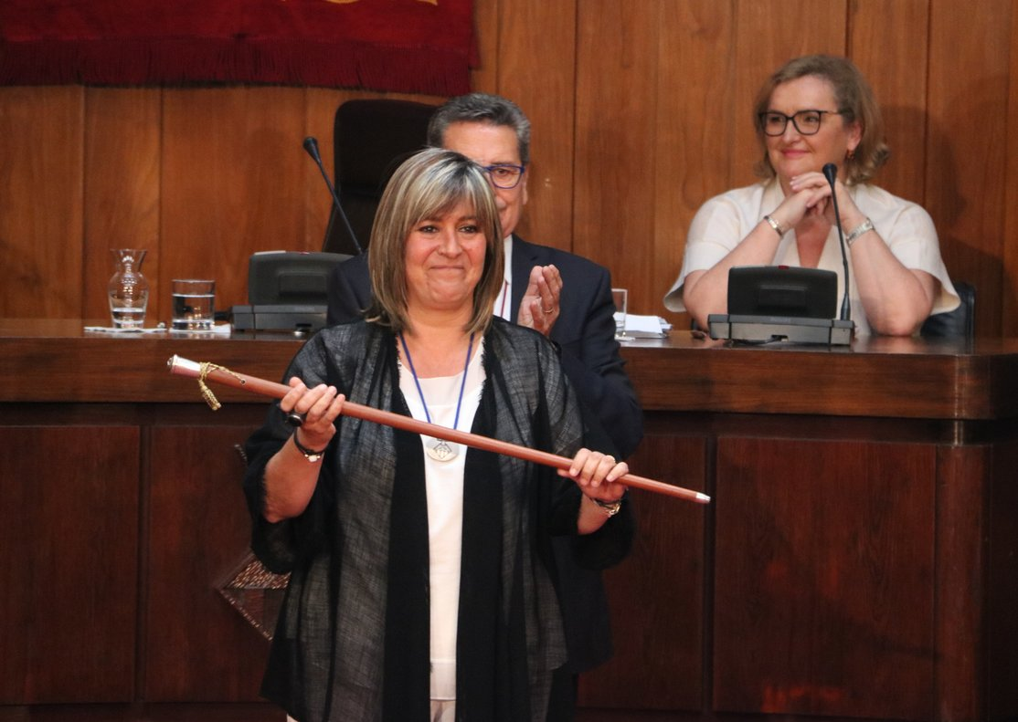 Núria Marín ha alzado la vara este sábado en L'Hospitalet por tercera vez consecutiva