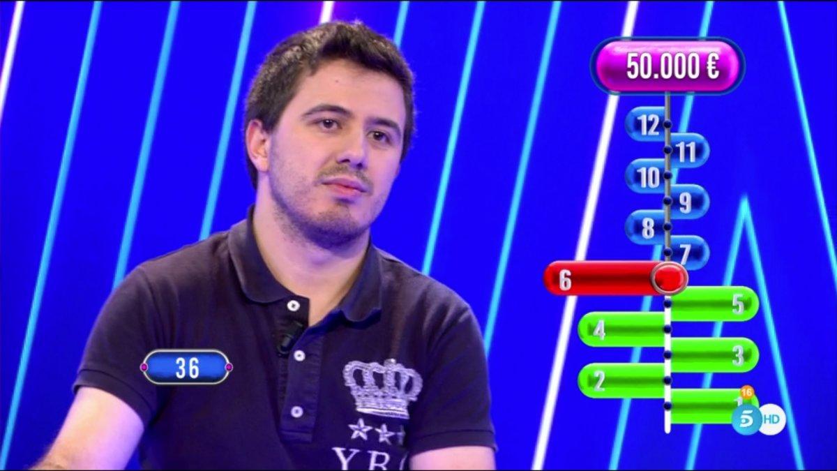 Orestes en el primer programa de 'El tirón'.