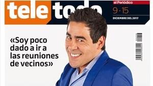 Pablo Chiapella, en la portada de Teletodo.