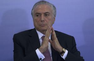 El presidente de Brasil, Michel Temer, el pasado día 8, en una ceremonia en el Palacio do Planalto de Brasilia.