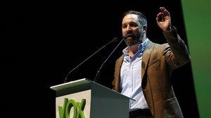 El presidente de Vox, Santiago Abascal, en el acto de Vistalegre del pasado 7 de octubre.