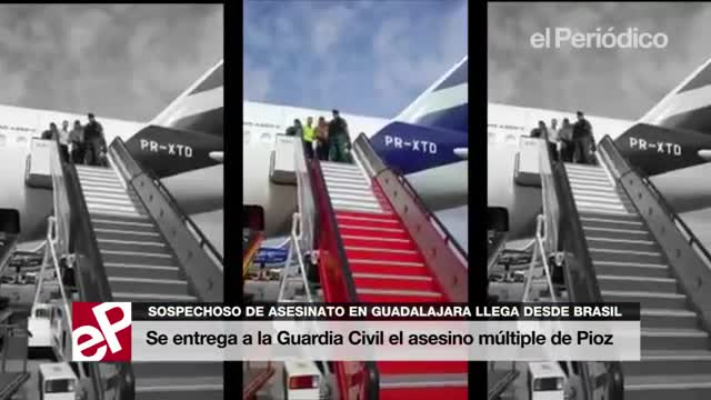 El presumpte assassí de Pioz arriba a Espanya des delBrasil, i sentrega a la Guàrdia Civil.