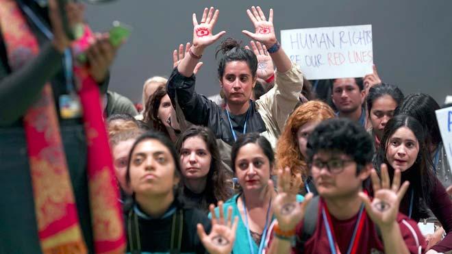 protesta fridays for future en la cop 25