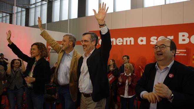 El PSOE acompanya Collboni amb la presència de Batet i Cruz