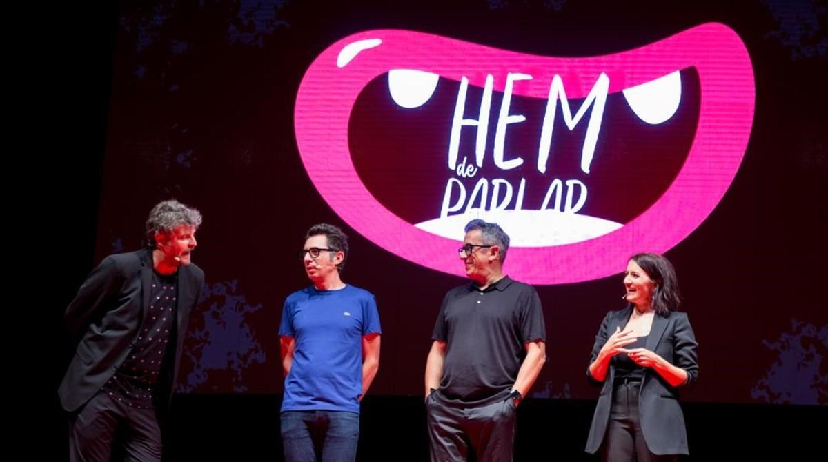 Raúl Cimas, Berto Romero, Andreu Buenafuente y Sílvia Abril, en el Singlot.