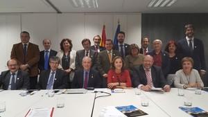 Fotografía de la reunión en Madrid de la candidatura de Granadapor el acelerador de partículas Donescon Fusion For Energy