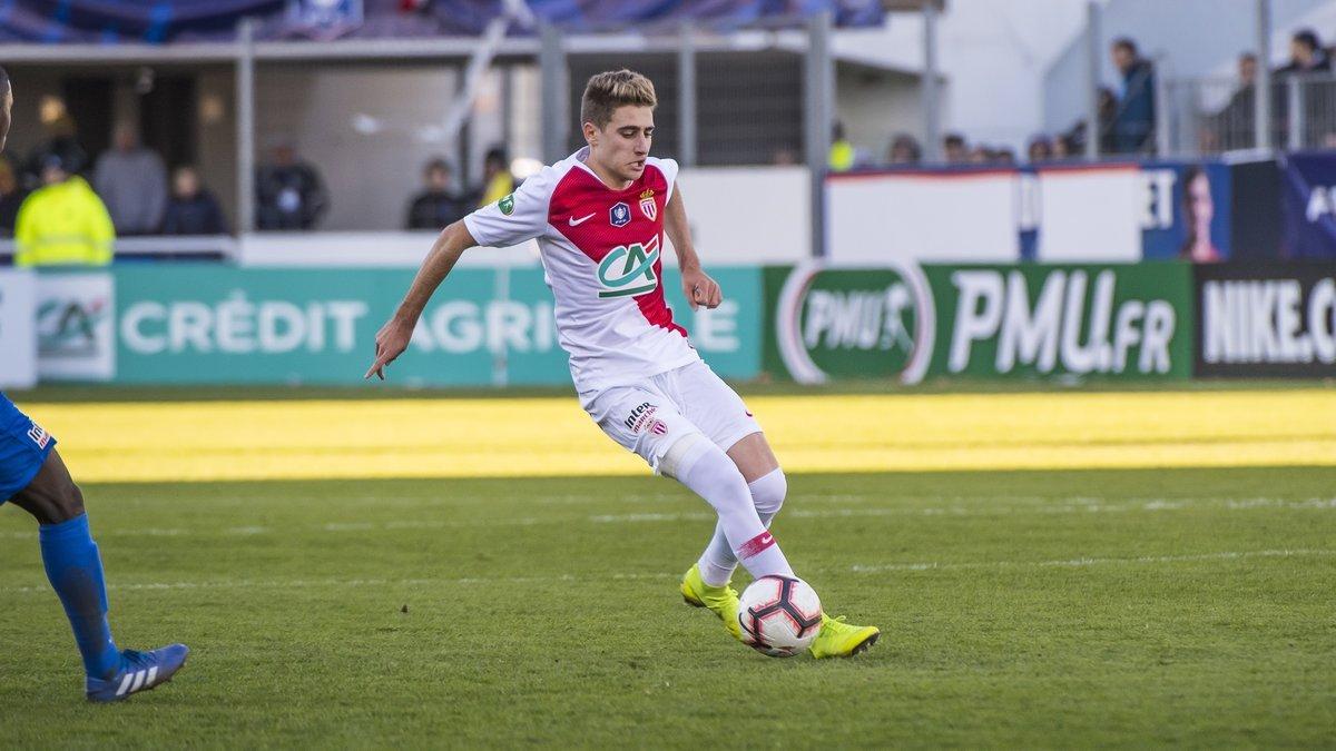 RobertNavarro, en su debut con el Monaco en la Copa francesa.