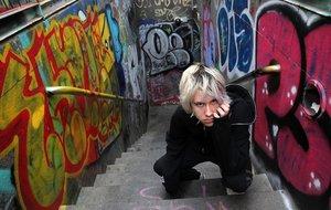 Rojuu, cantante de emo-trap de 16 años acabados de cumplir, la semana pasada en Barcelona