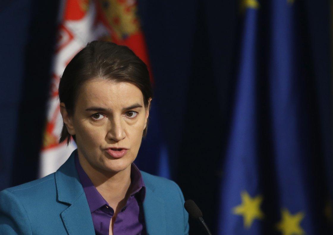 La Primer Ministra de Serbia,Ana Brnabic.