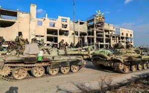 Tanques militares en Siria.