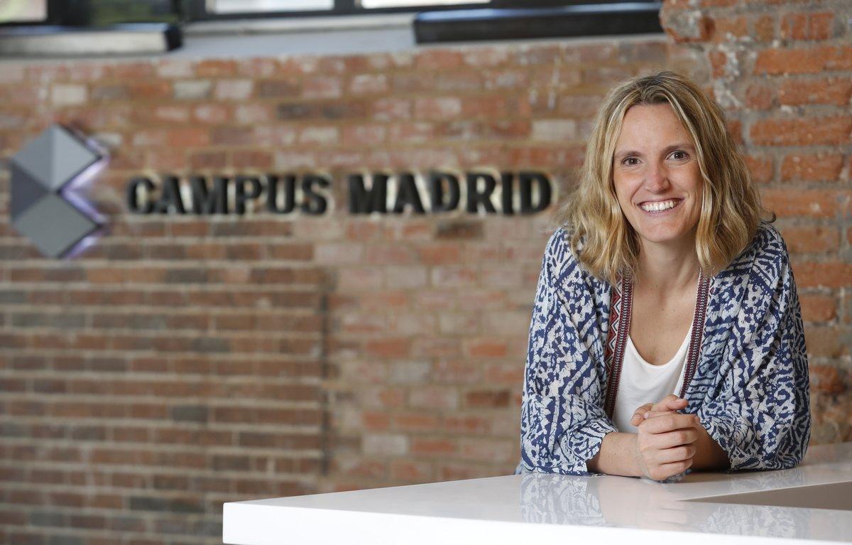 La directora de Campus Google Madrid, Sofía Benjumea, en la sede de este centro para emprendedores.