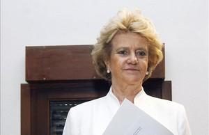 Soledad Becerril, en su toma de posesión, el año pasado.