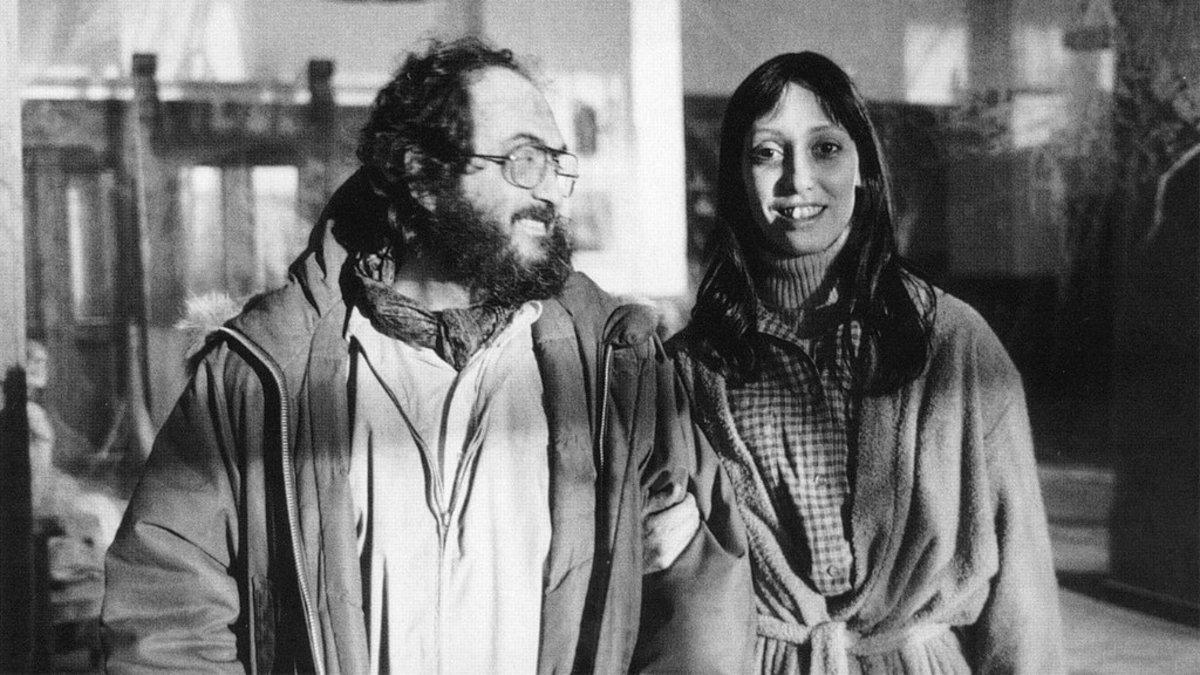 Stanley Kubrick y Shelley Duvall, en el rodaje de 'El resplandor'